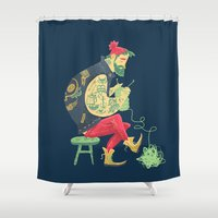 tattoos Shower Curtains featuring Break those Rules. by Karl James Mountford