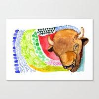 buffalo Canvas Prints featuring BUFFALO by dorc