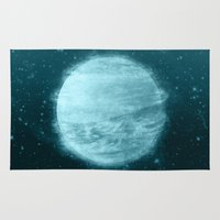 planet Area & Throw Rugs featuring Ice Planet by Chase Kunz