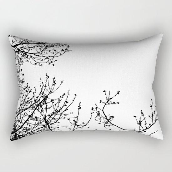 Zebra Branches Rectangular Pillow