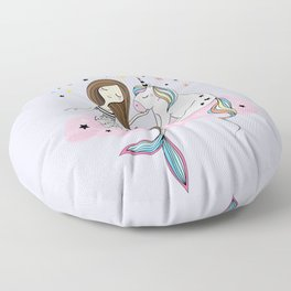 Mermaid & Unicorn Floor Pillow