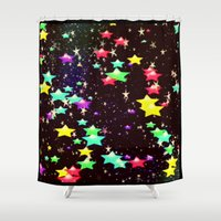 celestial Shower Curtains featuring celestial by Mariedesignz