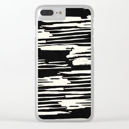 Modern Tribal Stripe Ivory and Black Clear iPhone Case