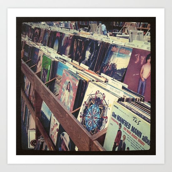 The Record Store (An Instagram Series) Art Print