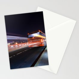 Santiago at night Stationery Cards