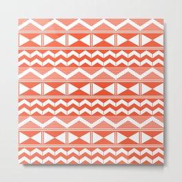 Orange and white geometry Metal Print