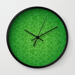 irish, ireland, shamrock, irish gifts women, luck of the irish, irish gift, three leaf clover Wall Clock
