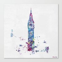 london Canvas Prints featuring London by Watercolorist