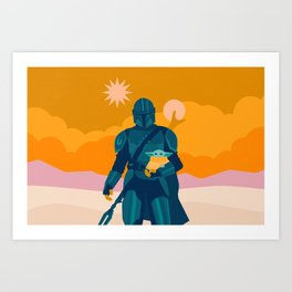 """Mando and Child - Gold"" by Sabrena Khadija Art Print"