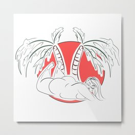 Your Tropical Paradise Metal Print