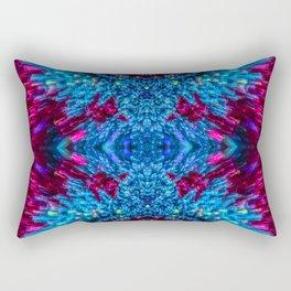 Blue and Magenta Light Refraction Patterns Rectangular Pillow