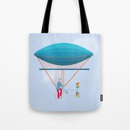 Skycycle Flying Machine Air Balloon Victorian Aircraft Tote Bag