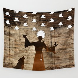 Saint Francis of Assisi Wall Tapestry