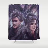 destiny Shower Curtains featuring Destiny by Svenja Gosen