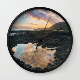 Koko Head Sunset Wall Clock