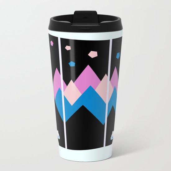 Colorful night Metal Travel Mug