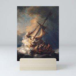 Christ in the Storm on the Sea of Galilee, Rembrandt Van Rijn Mini Art Print