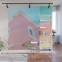 Bright And Happy On The Side Pastels Wall Mural