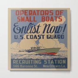 Vintage poster - Coast Guard Metal Print