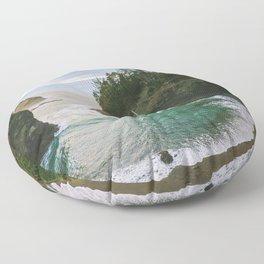 Hidden Cove on the Oregon Coast Floor Pillow