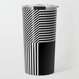 Geometric abstraction, black and white Travel Mug