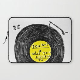 you are what you listen to, YELLOW Laptop Sleeve