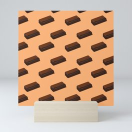 Chocolate Bar Cocoa Lovers Chocoholic Junk Food  Mini Art Print