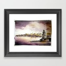 Maidens Tower Istanbul Framed Art Print