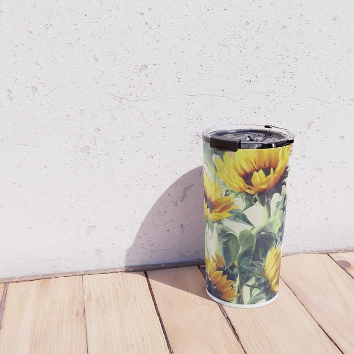 Sunflowers Forever Travel Mug