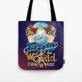 Defend your world v2 Tote Bag
