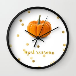 #psl Pumpkin Spice Season Wall Clock
