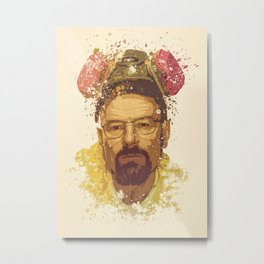 Breaking Bad, Walter White splatter painting Metal Print