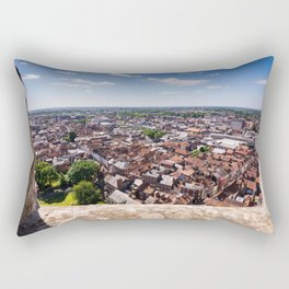 View of York from York Minster Cathedral tower Rectangular Pillow