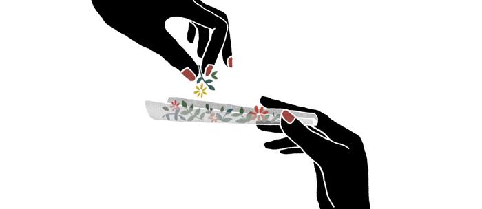 Flower roll / Illustration Kaffeebecher