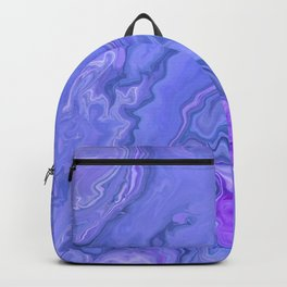 Violet Sky -  Fluid Marble Abstract Art Backpack