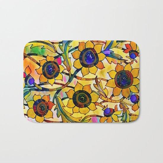 Sunny Sunflowers Bath Mat