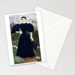 Portrait de Madame M. by Henri Rousseau Stationery Cards