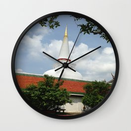 BUDDHIST CENTER Wall Clock