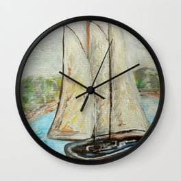 On a Cloudy Day - Impressionistic Art Wall Clock