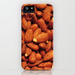 almond texture iPhone Case
