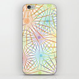 Colorful Christmas snowflakes pattern- holiday season gifts- Happy new year gifts iPhone Skin