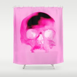 Magenta Skull Shower Curtain