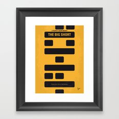 No622 My The Big Short minimal movie poster Framed Art Print