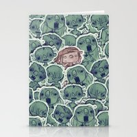 zombies Stationery Cards featuring Zombies by Burak Çınar
