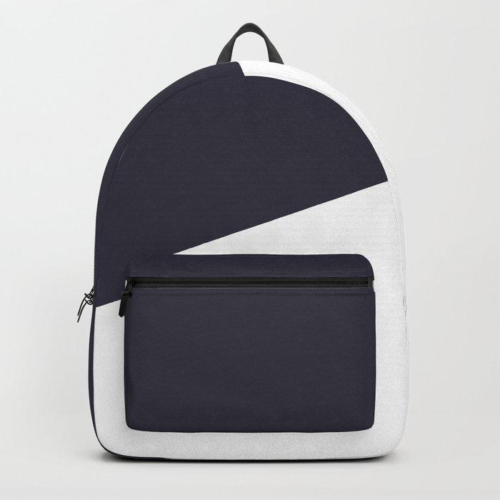 Urban Geometry Navy Blue + White Backpack