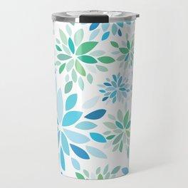 Nature's Healing Mandala Blue Travel Mug