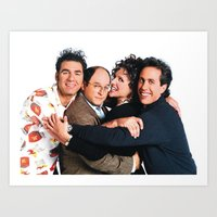 seinfeld Art Prints featuring Seinfeld by Frank Deuce