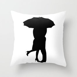 Under The Umbrella Of Love Throw Pillow