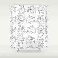 anchors Shower Curtains featuring Anchors by Bethany Mallick