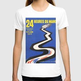 Original Vintage French 1972 le Mans Poster T-shirt